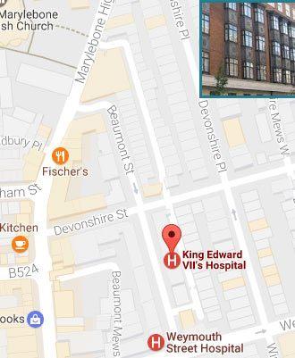 King Edward VII's Hospital Location Link