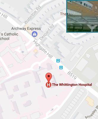 The Whittington  Hospital Location Link